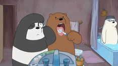 "CLIP: Cartoon Network Premieres for July ""We Bare Bears,"" ""Teen Titans Go!"" and More - Anime Superhero News Cute Panda Wallpaper, Bear Wallpaper, Cartoon Wallpaper, We Bare Bears Wallpapers, Panda Wallpapers, Cartoon Network, Cartoon Cartoon, 3 Bears, Cute Bears"
