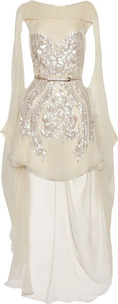 Embellished Silkchiffon Dress JEDWABNY SZYFON