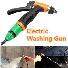 DC 12V Portable 80W High Pressure Car Electric Washer Pump Cleaning Washing Gun