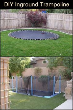 Let your kids be kids and build them an in-ground trampoline to maximize fun! Best Trampoline, Backyard Trampoline, Backyard Playground, Sunken Trampoline, Trampolines, Outdoor Play Areas, Outdoor Spaces, Outdoor Living, Outdoor Decor