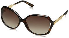 Womens Sunglasses |  Gucci Womens Oval Sunglasses  Havana Brown -- Want to know more, click on the image.-It is an affiliate link to Amazon. #WomensSunglasses