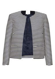 Great Plains Bella Brenton Stripe Jacket - True Navy & Seasalt