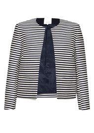 Great Plains Bella Brenton Stripe Jacket - True Navy & Seasalt