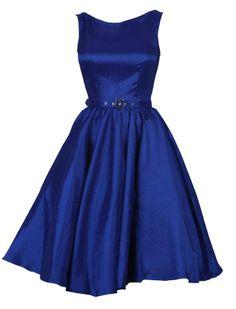 Retro Satin Kleid - Kleider - Vintage-Style - Ars-Vivendi