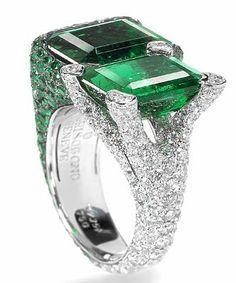 Emerald and diamond.....