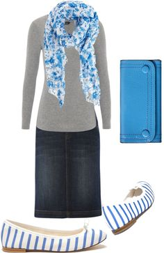 """comfort!"" by brandyswife on Polyvore...I would wear it with a different wallet."