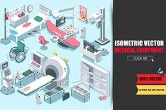 Medical Equipment Isometric Flat by alexdndz