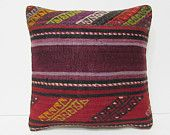 kilim pillow throw pillow cover handmade pillow sham tribal tapestry antique tapestry accent throw pillow moroccan cushion cover red 25859