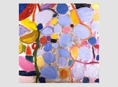 """""""Cyrus""""  love those blues that pop out at you  Gillian ayres"""
