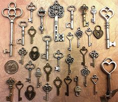 New Ornate Keys Steampunk Keys Skeleton Key Bulk Keys Old Keys WindChimes Steampunk Wedding Bead Supplies Craft Invitation Hair Body Jewelry