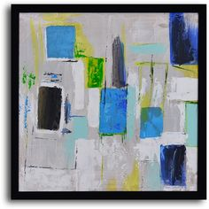 "MyArtOutlet.com - Hand Painted ""City windows abstract"" Framed Art, $79.00 (http://www.myartoutlet.com/hand-painted-city-windows-abstract-framed-art/)"