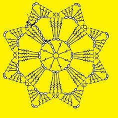 How to Crochet a Puff Flower - Her Crochet Crochet Snowflake Pattern, Crochet Doily Diagram, Crochet Snowflakes, Crochet Flower Patterns, Crochet Chart, Crochet Squares, Thread Crochet, Crochet Doilies, Crochet Flowers