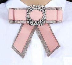 Ribbon Jewelry, Ribbon Art, Diy Ribbon, Fabric Jewelry, Ribbon Crafts, Ribbon Bows, Diy Jewelry, Tie Crafts, Diy And Crafts