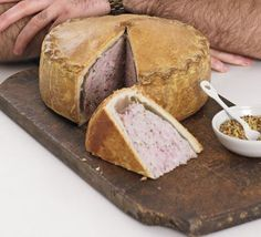 Pork pie -Marcus Wareing creates a British picnic classic with traditional hot-water crust pastry, step by step Read Recipe by elfwitchy Bbc Good Food Recipes, Pie Recipes, Cooking Recipes, Yummy Food, Pastry Recipes, Quiche, Empanadas, Pork Pie Recipe, Traditional English Food