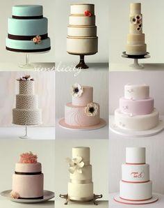 Simple Wedding Cakes #smallweddingideas #simpleweddings