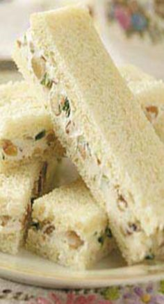 Walnut-Cream Cheese Finger Sandwiches (1) From: Taste Of Home, please visit