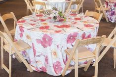 """Monet is a multi-colored pink and orange brushstroke floral print in a woven and slightly textured """"faux linen"""" fabric."""
