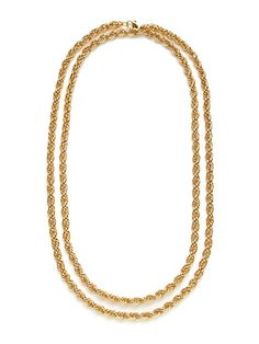 Double Rope Chain Necklace by Gemma Crus on Gilt
