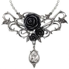 P700-bacchanal-black-rose-gothic-necklace-900x900.jpg (900×900) ❤ liked on Polyvore featuring jewelry, necklaces, goth jewelry, rose jewelry, rose necklace, gothic jewelry and goth necklace