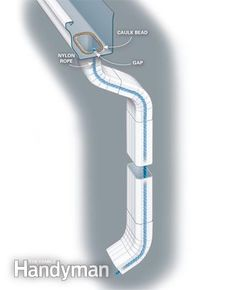 Quieting Gutters and Downspouts: Use this rope trick to silence the drips Read more: http://www.familyhandyman.com/roof/gutter-repair/quieting-gutters-and-downspouts/view-al