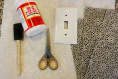 decoupage light switch plates {tutorial} - this will be a good use for my stash of scrapbook paper