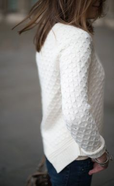 #fall #fashion / white knit
