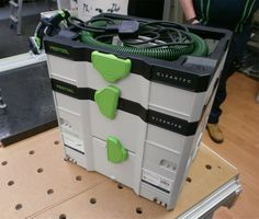 The Festool CLEANTEC CTL SYS mobile dust extractor has a litre capacity, can be used for dry extraction only, and is approved for dust category L. It has a smooth suction hose which slides over surfaces without catching! Dust Extractor, Power Tools, Power Strip, Locker Storage, Workshop, Woodworking, Ebay, Technology, Packaging