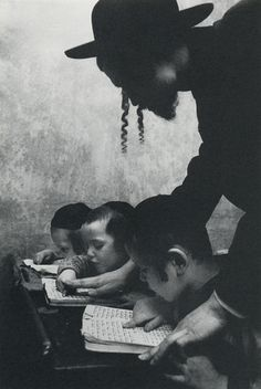 Hebrew Lesson, Brooklyn, 1955 - Photography by Cornell Capa