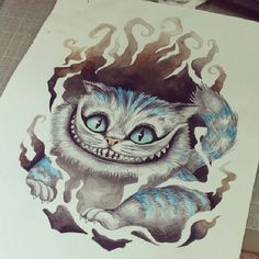 cheshire cat watercolor - Google Search