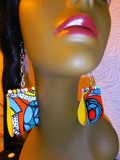Hand Painted Earrings Canvas Earrings Wearable by CherrysOriginals, $20.00