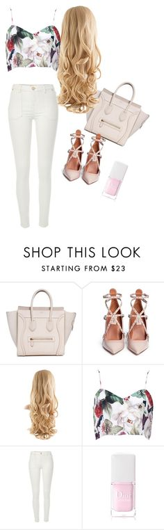 """""""Untitled #22"""" by angeliquemetta ❤ liked on Polyvore featuring Valentino, River Island and Christian Dior"""