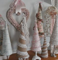 christmas tree pink Cute And Adorable Pink Christmas Tree Decoration Ideas 22 Pink Christmas Tree Decorations, Lace Christmas Tree, Christmas Tree Crafts, Shabby Chic Christmas, Victorian Christmas, Christmas Projects, Vintage Christmas, Christmas Time, Christmas Ornaments
