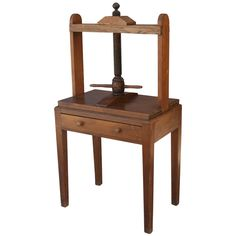 19th Century Wooden Bookbinding Press | From a unique collection of antique and modern more folk art at http://www.1stdibs.com/furniture/folk-art/more-folk-art/