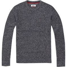 Tommy Hilfiger Basic Lightweight Crew Neck Sweater (145 CAD) ❤ liked on Polyvore featuring men's fashion, men's clothing, men's sweaters, men knitwear, men's wool crew neck sweaters, mens crew neck sweaters, mens crew neck jumper, mens woolen sweaters and mens knitwear