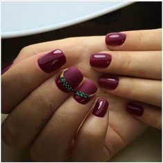 Accurate nails, Dark cherry nails, Gala nails, Matte nails, Matte nails with glossy pattern, Medium nails, Nails ideas 2017, Nails trends 2017