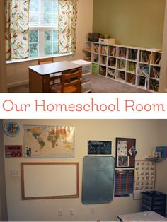 A homeschool is not meant to be school at home, so it stands to reason that a homeschool room should be comfortable and welcoming to the individuals who utilize it and not a sterilized environment meant to keep the masses focused. Like curricula, methods, and extracurriculars, the school room grows and evolves to meet the students needs. via @LarasPlace