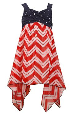 Bonnie Jean Red White Blue 4th July American Flag Little Girls ...