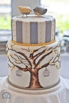 Hand Painted Wedding Cakes ♥ Wedding Cake Design