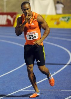 The week's best Olympic photos - Sprinter Yohan Blake gestures to the crowd after winning the 200m final at Jamaica's Olympic trials in Kingston, Jamaica, Sunday, July 1, 2012. Blake edged world-record holder Usain Bolt by 0.03 finishing in 19.80 seconds. (AP Photo/Collin Reid)