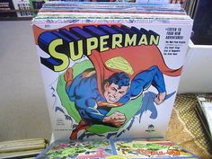 SUPERMAN Adventures vinyl LP 1978 Peter Pan Records EX DC Comics