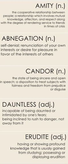 Divergent Erudite, Dauntless, Candor, Abnegation and Amity. A person who cannot be controlled by any force or manner like a simulation. These beings are also aware during simulations. Examples include: Tris, Four (sort of) and some other people from the city Chicago