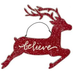 Primitives by Kathy Hanging Christmas Deer Wall Decor ($3.99) ❤ liked on Polyvore featuring home, home decor, rustic home decor and deer home decor