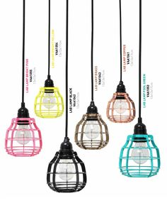 HKliving Lab lamps