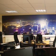 Foamex board used as office backdrop