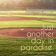 Just another day in paradise #baseball