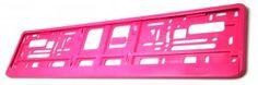 Podkładka ramka tablicy rejestracyjnej RÓŻOWA RAL4010