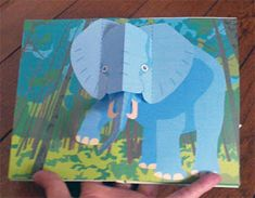 Libros Pop-Up Books Cards: Cómo Hacer un Divertido Libro Pop-Up de Animales! Easy Drawing Tutorial, Arte Pop Up, Pop Up Art, Cuento Pop Up, Paper Toys, Paper Crafts, Origami, Pen Pal Letters, Paper Engineering