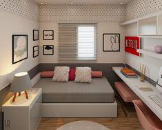 Small room design – Home Decor Interior Designs Girl Bedroom Designs, Room Ideas Bedroom, Small Room Bedroom, Home Bedroom, Bedroom Decor, Teenage Room Designs, Kid Bedrooms, Small Room Decor, Small Room Design