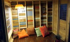 Adorable 35-Sq.-Ft. Study Cabin Was Built for $400 Using Recycled Materials (Artist: Deek, from Relax Shacks)
