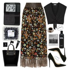"""""""Alice + Olivia Maxi Skirt"""" by karineminzonwilson ❤ liked on Polyvore featuring Alice + Olivia, Jimmy Choo, Mulberry, Meggie, Cole Haan, TokyoMilk, Make, H&M, Summer and floral"""